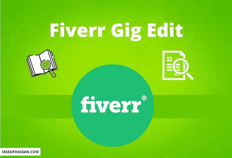Fiverr Gig edit
