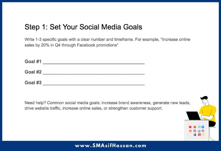 Social Media Marketing Strategy goal